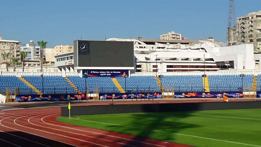 """صور.. استاد الإسكندرية جاهز لاستقبال """"الكان""""..الملعب يتزين لاستضافة 7مباريات  87245-1cc55a37-3b91-4176-906d-17449d291394"""