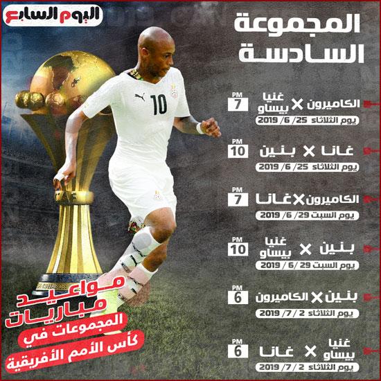 المجموعة السادسة فى كأس الأمم الأفريقية