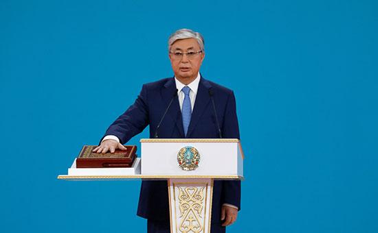 الرئيس الكازاخى يؤدى اليمين الدستورية