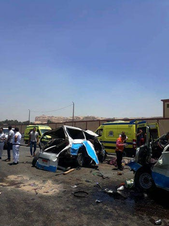 حادث تصادم طريق الاوتوستراد (2)