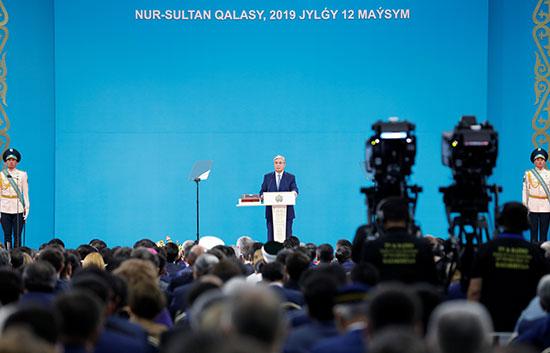 توكاييف يلقى كلمة