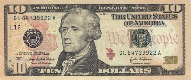 10دولار