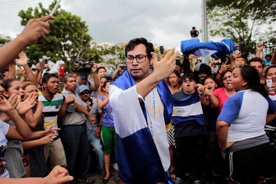 اطلاق سراح زعيم معارضة نيكاراجوا يوبرانك سوازو