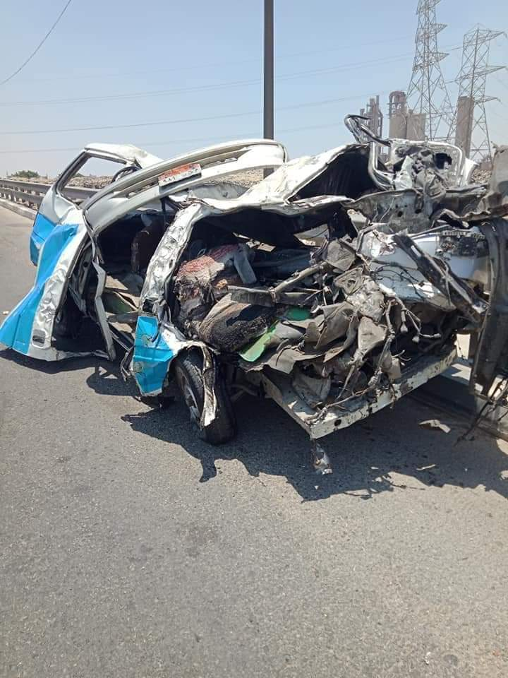 حادث تصادم طريق الاوتوستراد (1)