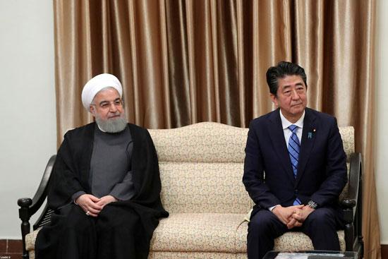 الرئيس-الإيرانى-ورئيس-وزراء-اليابان
