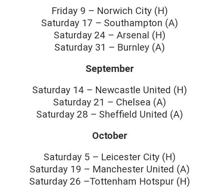 أول 10 مباريات لنادي ليفربول في الدوري الانجليزي