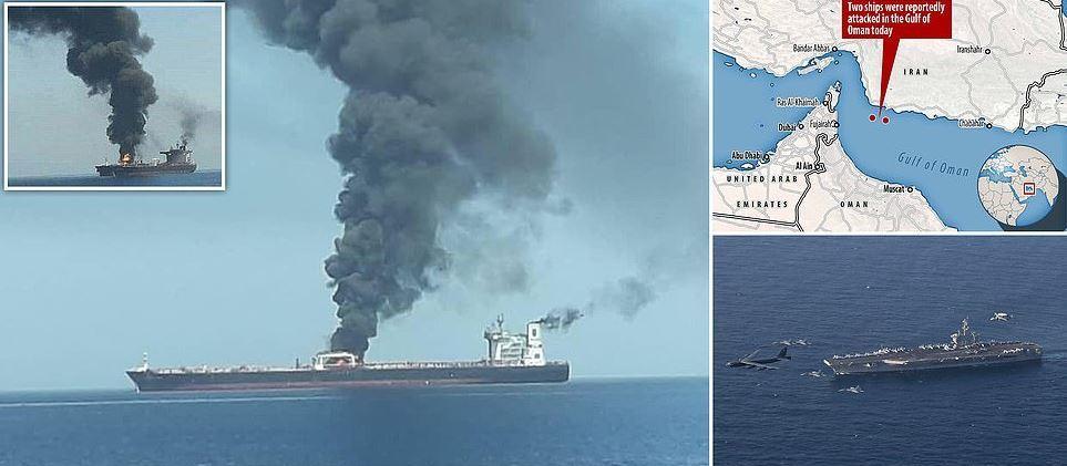 صور توضيحية لناقلتى النفط