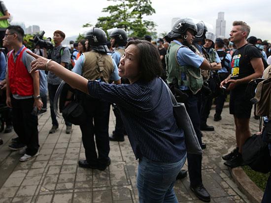 المظاهرات فى هونج كونج