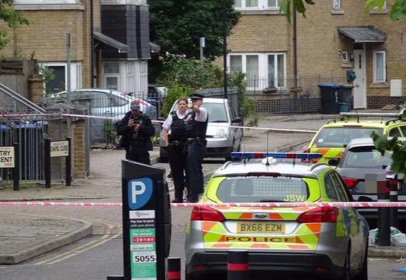 British police at the scene