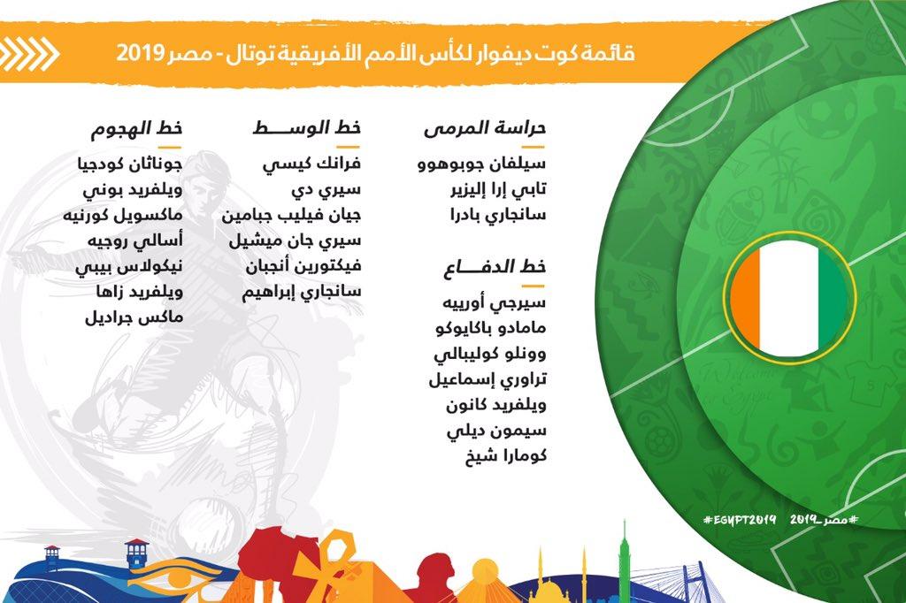 قائمة منتخب كوت ديفوار النهائية