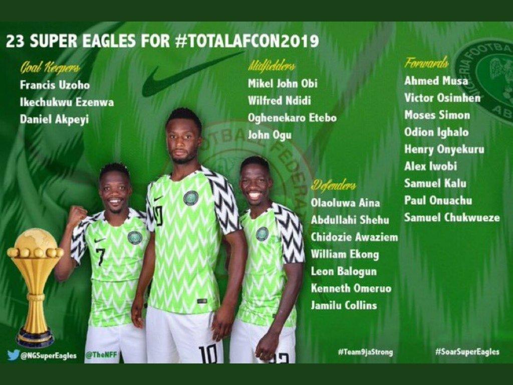 قائمة منتخب نيجيريا
