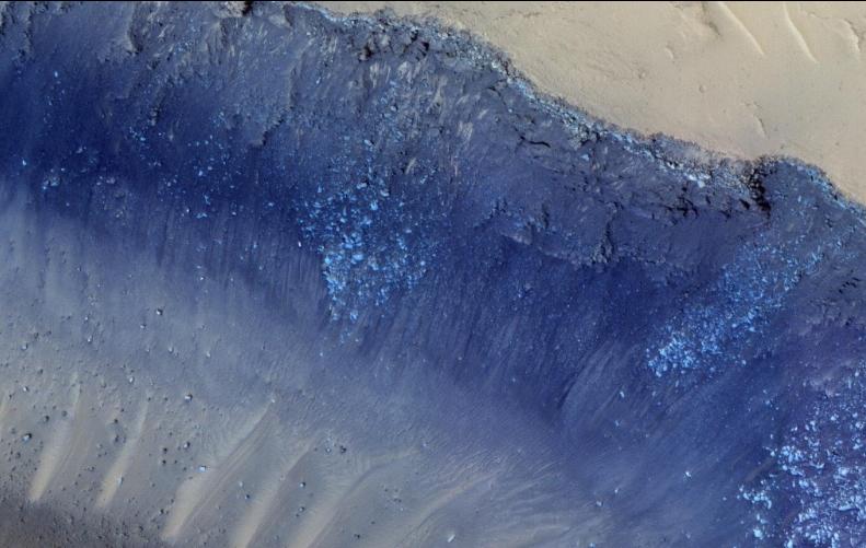 انحدرات على سطح كوكب المريخ
