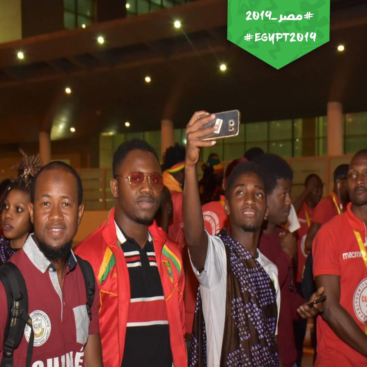 منتخب غينيا يصل القاهرة