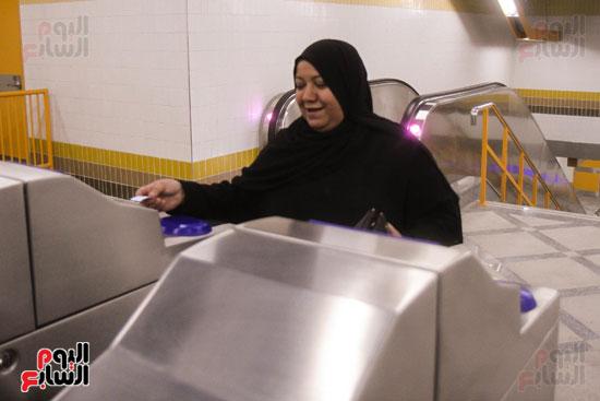 افتتاح محطة مترو الأهرام (16)
