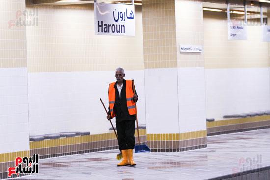 افتتاح محطة مترو الأهرام (33)