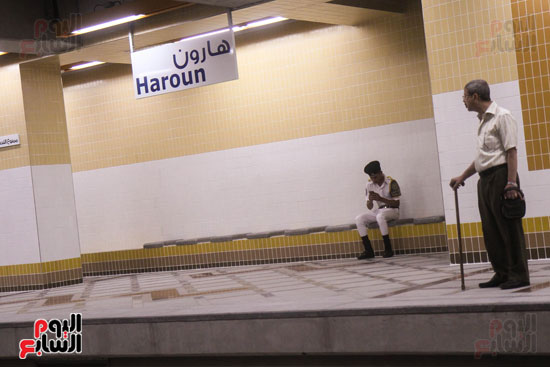 افتتاح محطة مترو الأهرام (1)