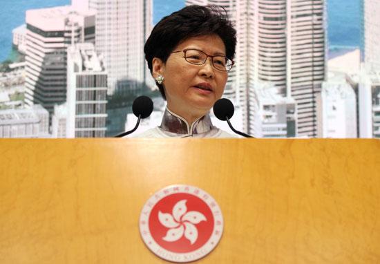 كاري لام الرئيسة التنفيذية لهونج كونج
