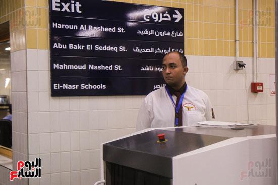 افتتاح محطة مترو الأهرام (17)