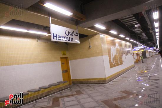 افتتاح محطة مترو الأهرام (2)