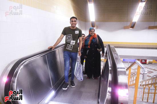 افتتاح محطة مترو الأهرام (29)