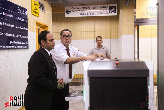 افتتاح محطة مترو الأهرام (14)