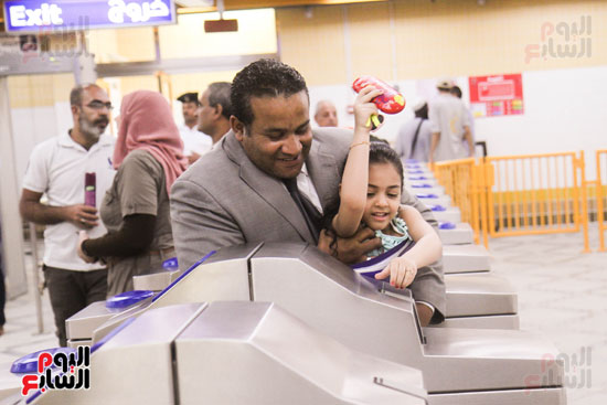 افتتاح محطة مترو الأهرام (19)