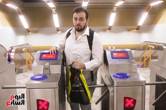 افتتاح محطة مترو الأهرام (15)