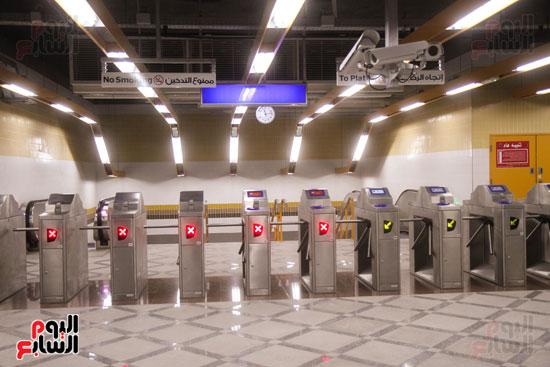 افتتاح محطة مترو الأهرام (12)