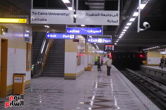 افتتاح محطة مترو الأهرام (23)