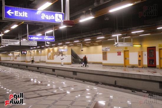 افتتاح محطة مترو الأهرام (3)