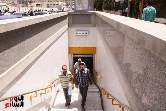 افتتاح محطة مترو الأهرام (4)
