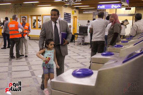 افتتاح محطة مترو الأهرام (18)