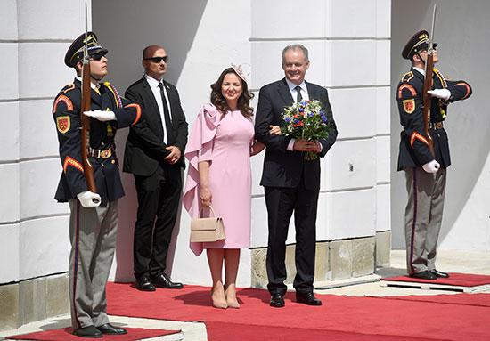 الرئيس السلوفاكى السابق وزوجته