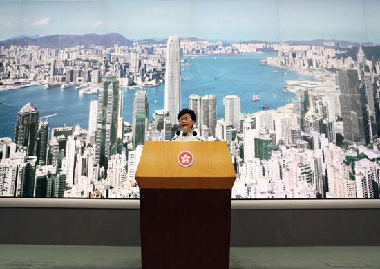 خطاب كاري لام الرئيسة التنفيذية لهونج كونج إلى الشعب