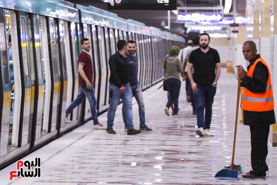 افتتاح محطة مترو الأهرام (40)