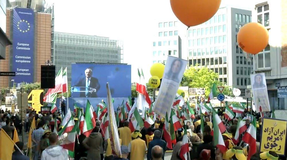 مظاهرات المعارضة الإيرانية فى بروكسل