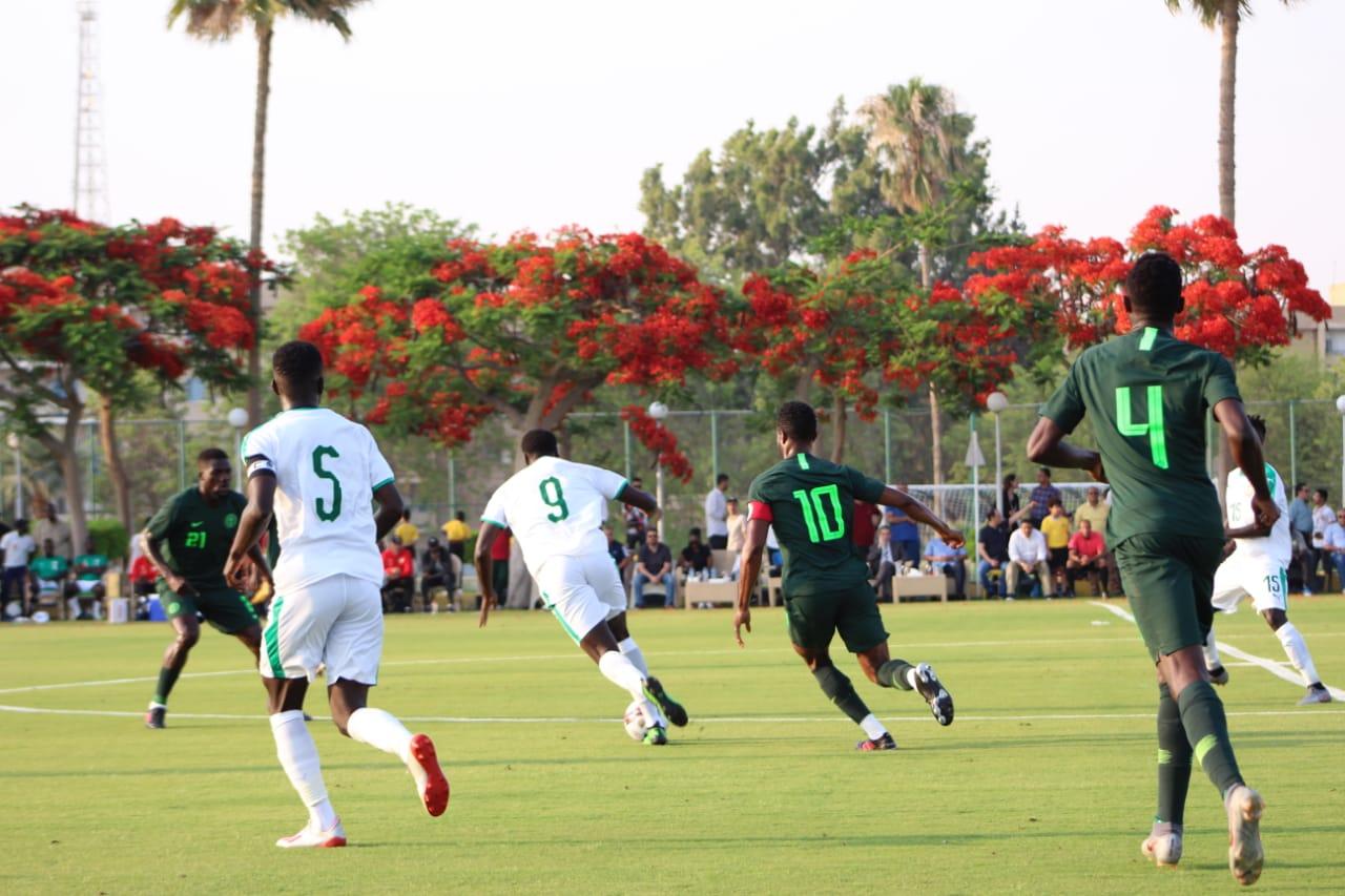 جانب من مباراة نيجيريا والسنغال