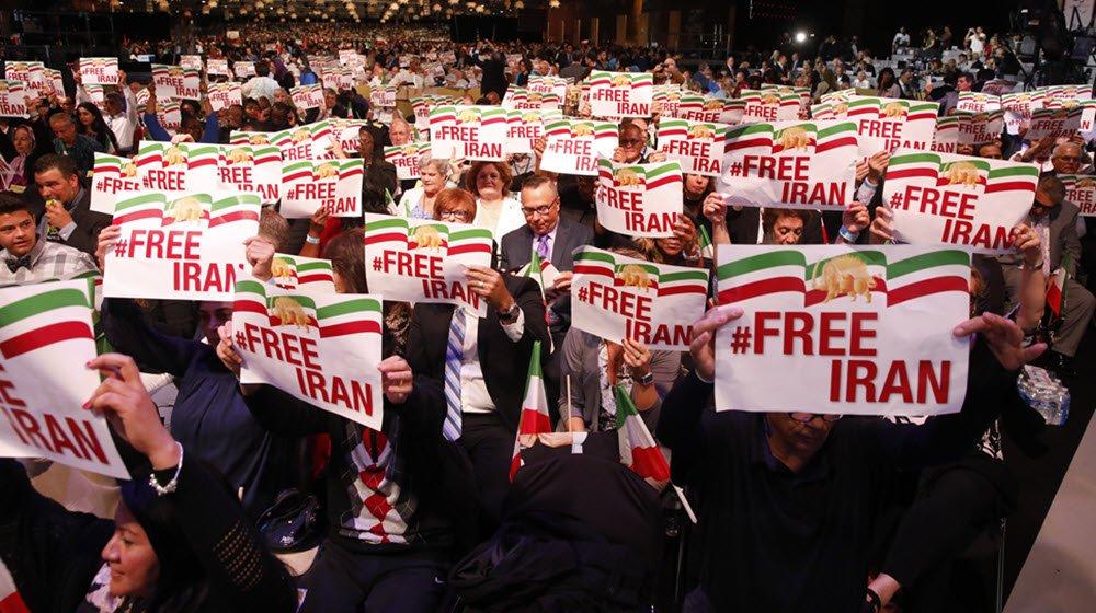 مظاهرات إيران فى بروكسل