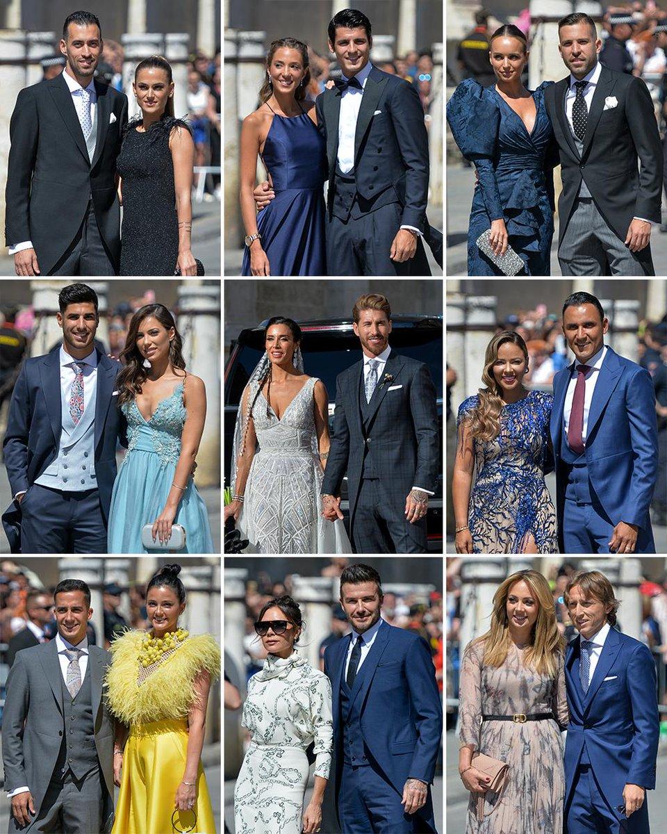 جانب من المدعوين فى حفل زفاف راموس قائد ريال مدريد