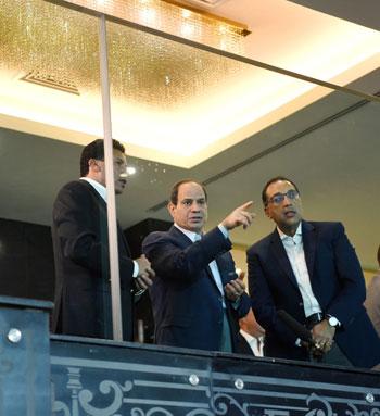 السيسى يتفقد استاد القاهرة (2)