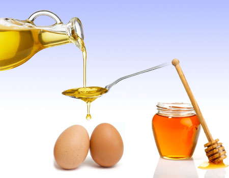 خلطة البيض والعسل وزيت الزيتون