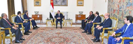 الرئيس عبد الفتاح السيسى يستقبل الشيخ عبد الله بن زايد وزير الخارجية الإمارات (1)