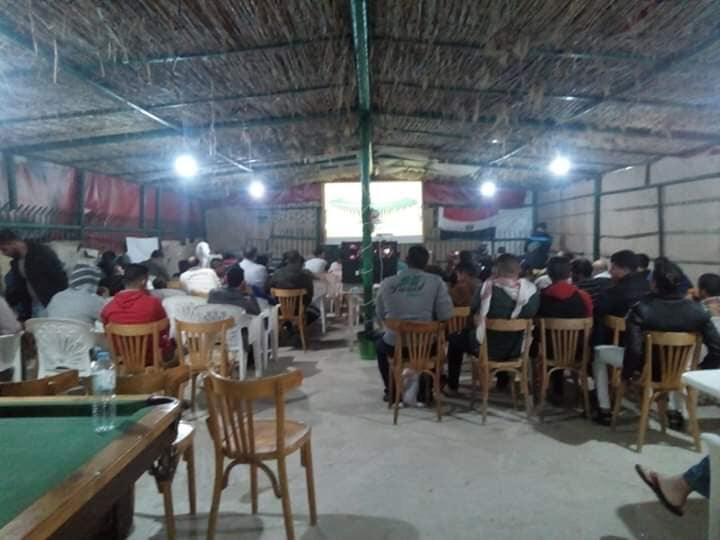 أهالى شمال سيناء يتحدون الأرهاب بتشجيع المنتخب الوطنى  (8)