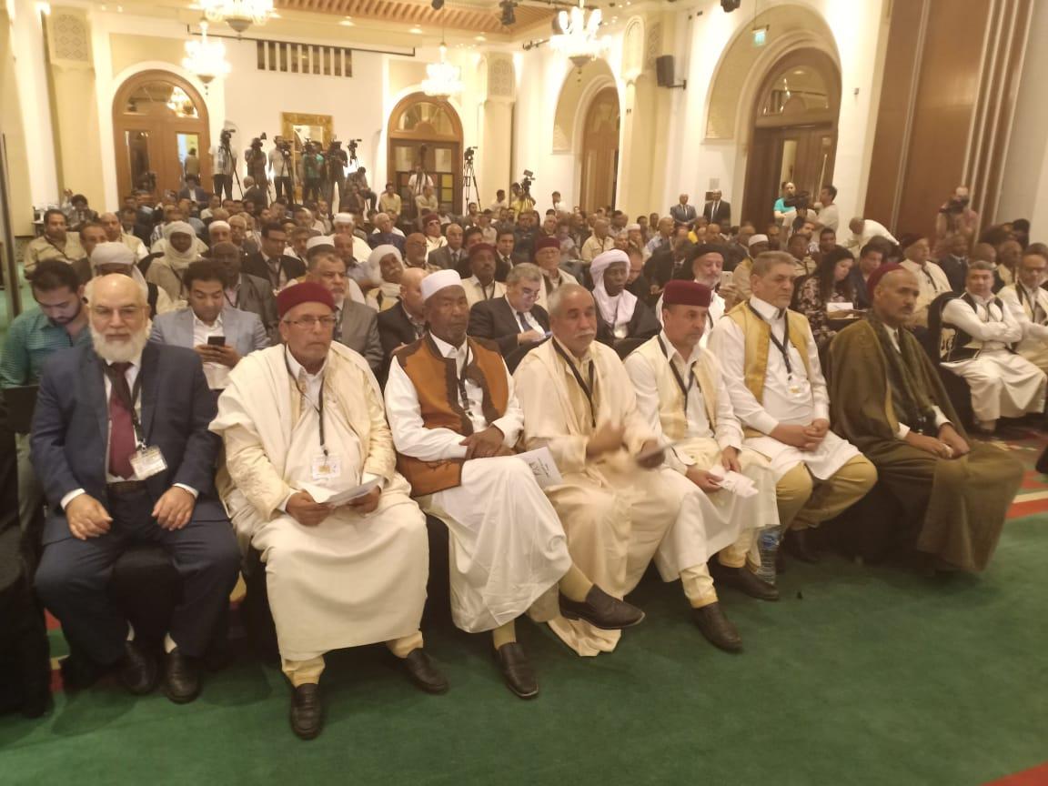 أبناء وشيوخ القبائل الليبية فى مؤتمر القاهرة