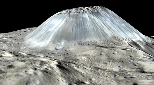 Mountain on the asteroid Ceres