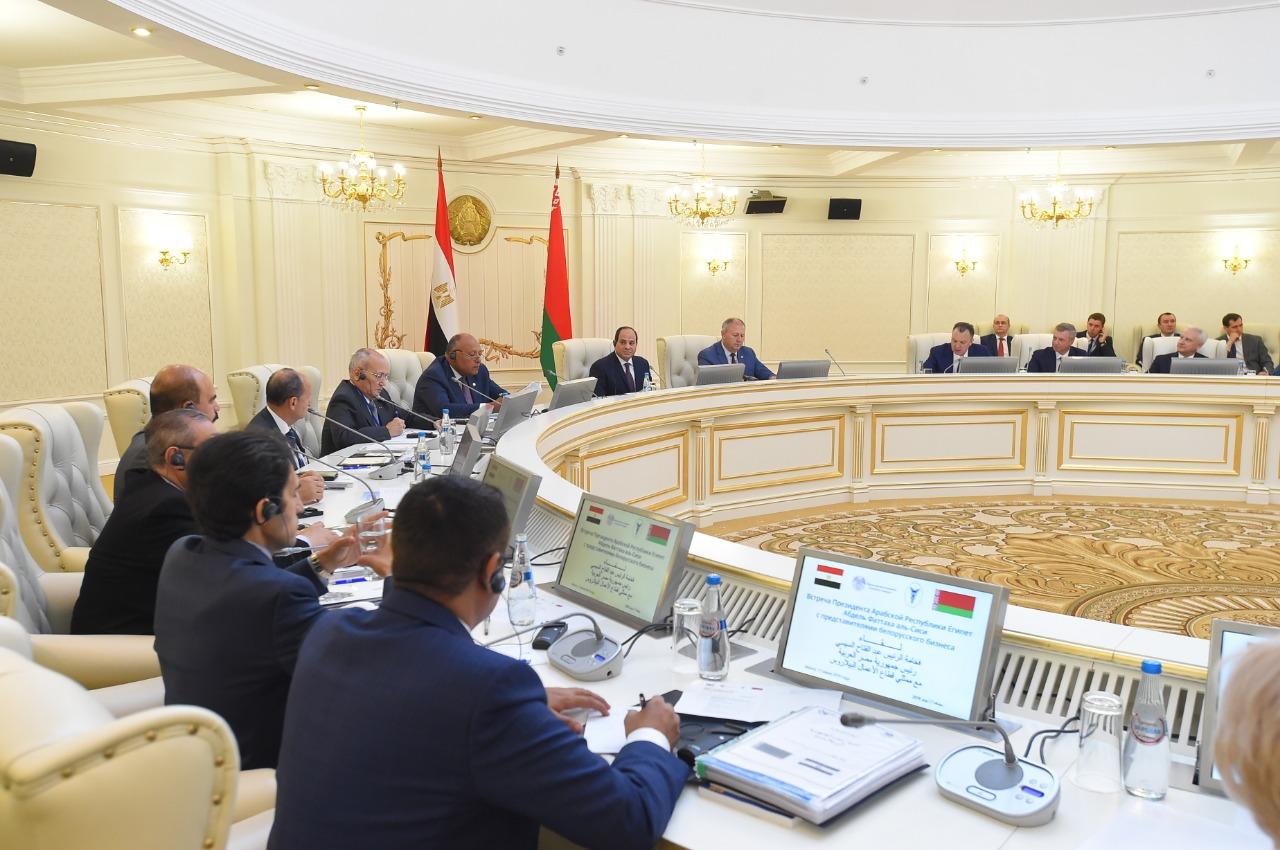 السيسى يلتقى رئيس وزراء بيلاروسيا (3)