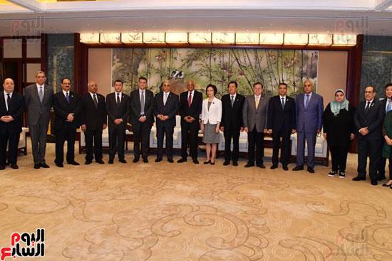 على عبد العال فى زيارة رسمية للصين (1)