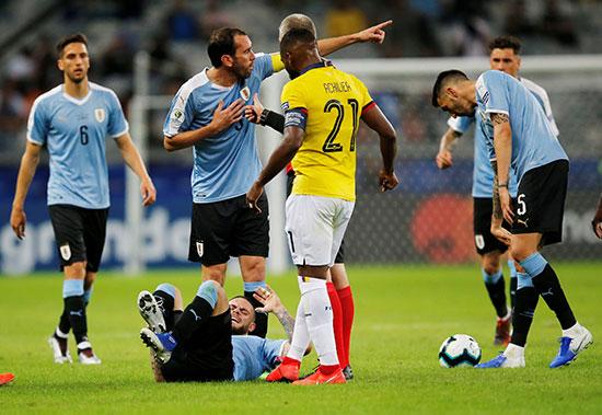 مباراة الإكوادور وأورجواى