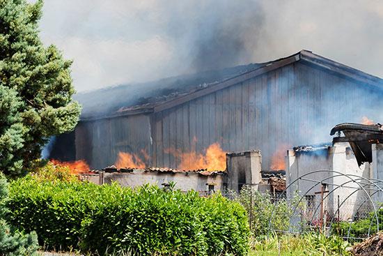 حريق مخزن كونياك فى فرنسا