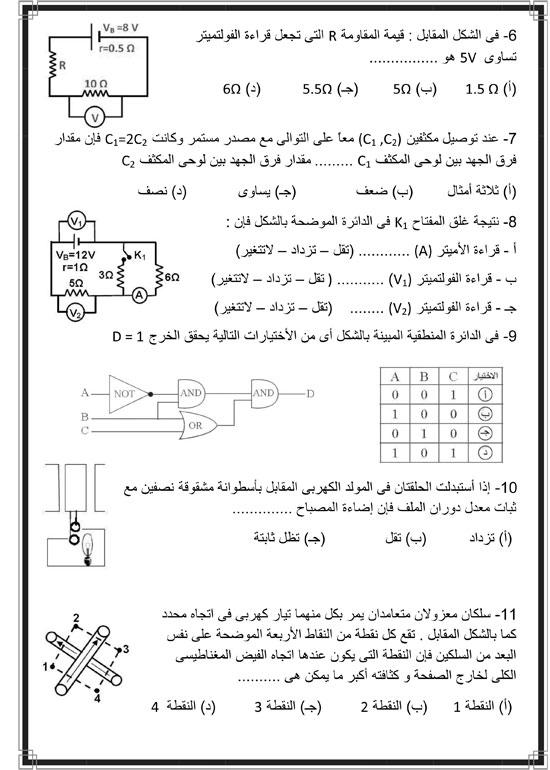 المراجعات النهائية لطلاب الثانوية العامة فى مادة الفيزياء (2)